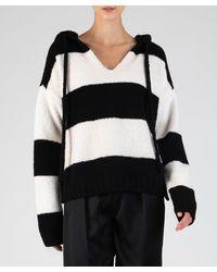 ATM Anthony Thomas Melillo Mens Short/ Striped Linen Jersey Oversized Crew