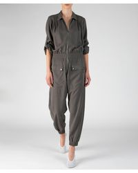 ATM Washed Silk Utility Jumpsuit - Multicolor