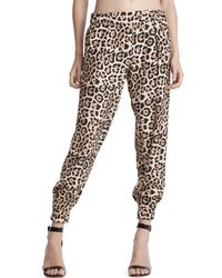 ATM - Leopard Silk Sweatpants - Lyst