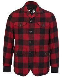 DSquared² Icon Lumberjack Coat - Red