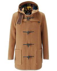 Gloverall Mid Length Duffle Coat Camel Buchanan - Brown