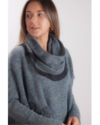 Crea Concept Teal Jumper With Removable Snood - Blue