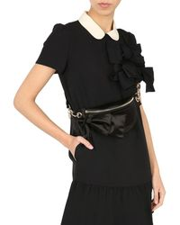 RED Valentino Belt Bag With Maxi Bow - Black