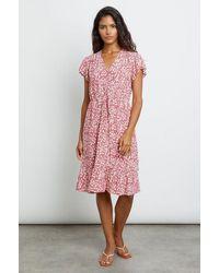 Rails Kiki Scarlet Camellia Knee Length Dress - Pink