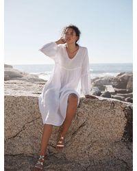 Nrby Ava Linen Dress - White