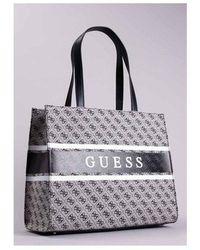 Guess Monoique Tote Bag Colour: Coal - Black