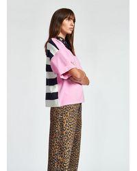 Essentiel Antwerp Zrad Short Sleeved Sweater - Pink