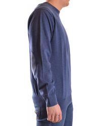 GANT - Men's Blue Round Neck Sweater - Lyst