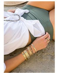 Anna Beck Labradorite Double Beaded Stacking Bracelet - Metallic