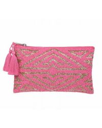 The West Village Beaded Pouch Pink