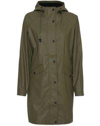 Ichi Tazi Olive Rain Jacket - Green