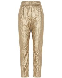 Nude Women's 110356226 Gold Other Materials Trousers - Metallic
