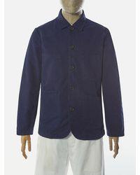 Universal Works Bakers Jacket In Navy - Blue