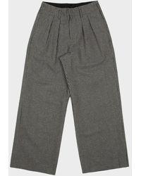 Folk Double Pleat Tailored Pants - Blue