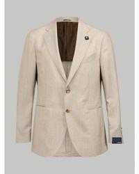 Lardini Cashmere Blazer (beige) - Natural