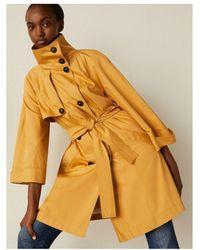 Marella Rail Db Overcoat Colour: Mustard - Red