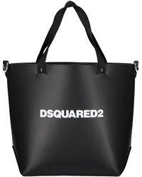 DSquared² Womens Logo Handbag - Black