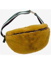Baum und Pferdgarten - Kivi Mustard Yellow Faux Fur Belt Bag - Lyst