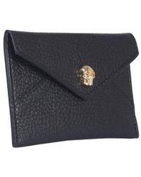McQ Envelope Skull Card Holder - Black