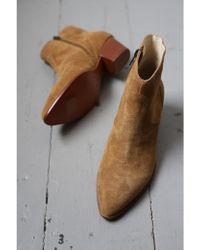 Ash Heidi Santal Suede Boots - Brown