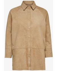 SELECTED Curds & Whey Suede Shirt - Brown