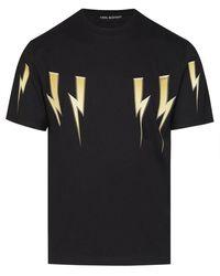 Neil Barrett Bolt T Shirt - Black