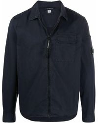 C.P. Company Men's 10cmsh173a002824g888 Blue Cotton Jacket