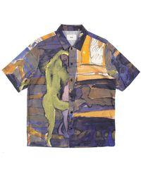 Folk Folk X Goss Brothers Gabe Shirt- Figure Print - Last Piece - Multicolour