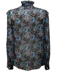 Boutique Moschino - Printed Silk Blouse - Lyst