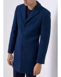 Remus Uomo Rueben Dark Overcoat - Blue