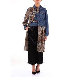Junya Watanabe Junya Watanabe Comme Des Garãƒâ§ons Patterned Denim Jacket - Blue