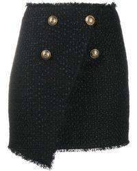 Balmain Women's Uf14059x3960pa Black Polyamide Skirt