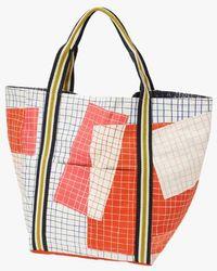 Inouitoosh Printed Cotton Canvas Tote Bag Nima - Red