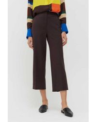 Chinti & Parker Wool-twill Cropped Trouser In Bitter Chocolate - Brown