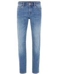 BOSS by Hugo Boss Delaware3-1 - Slim-fit Jeans In Bright-blue Stretch Denim