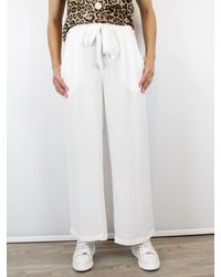 Conditions Apply Wide Leg Trouser Culottes White - Pink