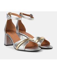 Shoe The Bear May Wave Metallic Heeled Sandals