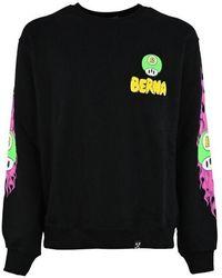 Berna Cotton Sweatshirt - Black