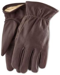 Red Wing Buckskin Leather Lined Gloves Brown