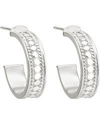 Anna Beck Hoop Post Earrings - Metallic