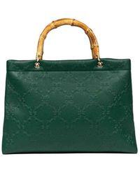 Roberta Di Camerino Bamboo Shopping Large - Green