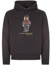 Ralph Lauren Polo Bear Hoodie - Black