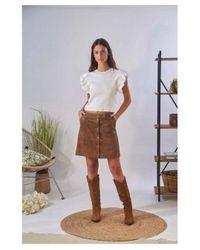 Oakwood Beckie A Line Mini Skirt - Brown