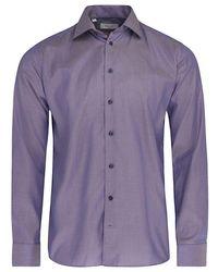 Eton of Sweden Slim Fit Pointed Collar Twill Shirt (indigo) - Blue