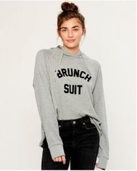 South Parade - Charlie Brunch Suit Hooded Jumper Heather Grey - Lyst