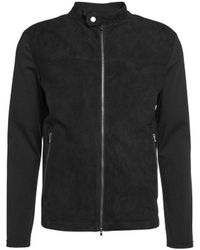 Gimo's Lightweight Leather Jacket - Black