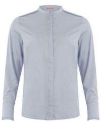 COSTER COPENHAGEN Feminine Fit Shirt - Oxford - Blue