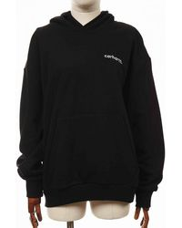 Carhartt Wip Typeface Hooded Sweatshirt - /white - Black