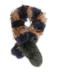 Mr & Mrs Italy Fur Collar - Black
