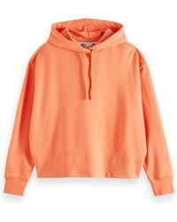 Scotch & Soda Graphic Back Hooded Sweatshirt - Orange